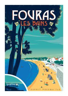 © Marcel FOURAS-LES-BAINS Esprit Presqu'île www.marcel-travelposters.com