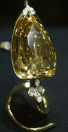 The diamond weighs 407.48 ct and is flawless. Love yellow diamonds!