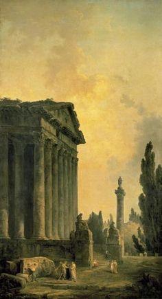 Hubert Robert, Temple Ruins