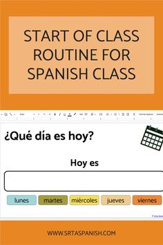Classroom routines and procedures are essential for a successful classroom. They help your classroom run efficiently so you can maximize student learning. Check out these routines to start your Spanish class every day! Perfect for middle school and high school Spanish students! Perfect for new and veteran teachers alike. #spanishclass #classroomroutines Classroom Routines And Procedures, Classroom Management Tips, Class Routine, Spanish Lesson Plans, High School Spanish, Classroom Community, Spanish Classroom, Class Activities, My Emotions