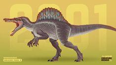Dinosaur Time, Dinosaur Art, Dinosaur Stuffed Animal, T Rex Jurassic Park, Jurassic World 3, Creature Concept Art, Creature Design, Spinosaurus, Tyrannosaurus Rex