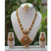 Shop Antique Gold Finish Copper Tone South Traditional Long Necklace by Traditionalindia online. Largest collection of Latest Necklaces online. ✻ 100% Genuine Products ✻ Easy Returns ✻ Timely Delivery