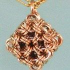 Chainmaille Gold Filled Micro Maille Japanese Cube Necklace