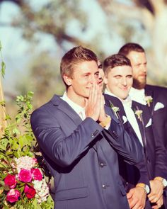 My grooms reaction was everything!!