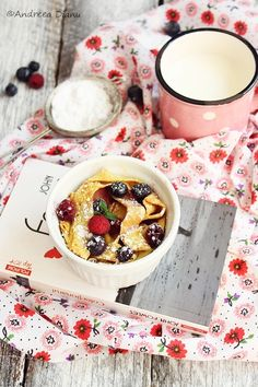 Pudding pancakes with cheese, raspberries and blueberries | Passion for kitchen