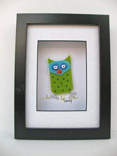 Whimsical Fun Fused Glass Owl by FaithWickey on Etsy, $55.00