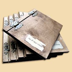 rustic menu covers - Google Search