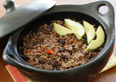 The aroma that fills your kitchen while cooking this Cuban rice dish will make you want to pump up the salsa music and grab a mojito! Rice and black beans cook