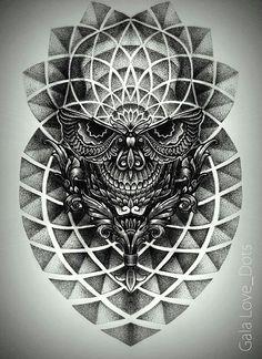 Gala Love Dots. Tattoo. Ukrainian artist.