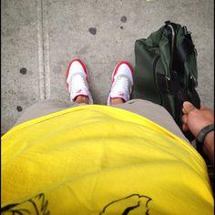 Summer work daze #wdywt #todayskicks #flightclub #nyc #nike #tumi