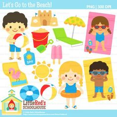 Clip Art - Lets Go To The Beach - summer-themed clipart $