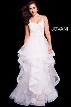 2ad72c55481  Jovani  IvoryDress  wedding  homecoming Formal Evening Dresses
