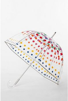 I LOVE my bubble umbrella... but this one is SUPER cute too!  I need one for each car... right?