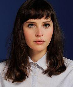 felicity jones - cute haircut