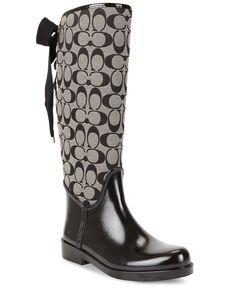 049662272b8 COACH Tristee Logo Rainboots   Reviews - Boots - Shoes - Macy s