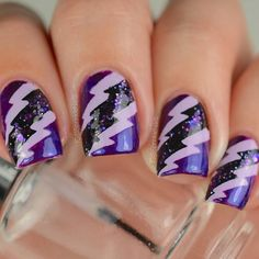 Check out our Twitter feed for flash sale! This awesome mani is by the amazing @sprinklenails!  - Small Lightning Bolt Nail Vinyls  snailvinyls.com