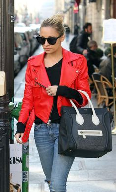 Nicole Richie's Celine mini luggage is to die for #tdf #celine #miniluggage.