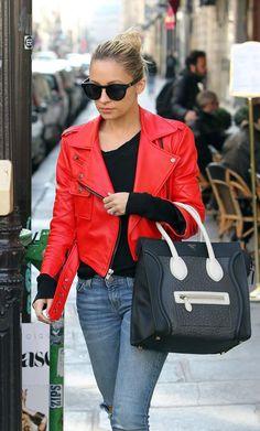Nicole Richie's Celine mini luggage is to die for #tdf #celine #miniluggage.
