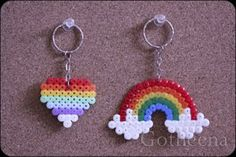 Gotheena Monsta Kraft !!: new perler beads keychains!!