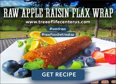 Craving Something Sweet Today? Try these simply Raw Apple Raisin Flax Wraps and fill them with your favorite filling! #rawfood #rawfoodretreataz #wedraw