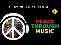 This is Playing for Change. Very unique idea - peace through music. The same song played with different instruments, sung in different languages, on continents around the world and all mixed into one video. And there are lots of them! Hippie Music, Imagine John Lennon, Music Film, My Favorite Music, Favorite Things, News Songs, Hit Songs, You Funny, Musicals