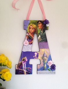 Disney Rapunzel Wooden Letter A Tangled 11 by SpikaInteriors, $24.00