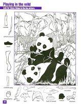 Zoekplaat pandaberen, kleuters