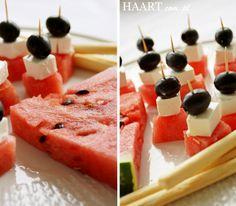 Koreczki arbuz+feta Letnie przekąski Home Wiecej na blogu www.haart.com.pl