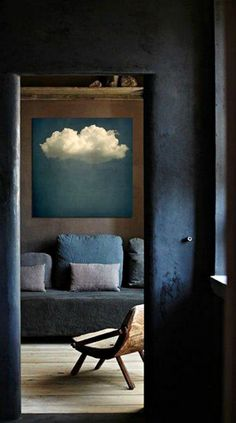 chessey welch cloud painting #Interior #Decorations #YourNewRoommate