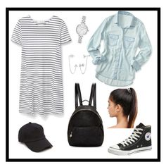 """""""Sep. 7"""" by adriennke on Polyvore featuring MANGO, Aéropostale, Converse, STELLA McCARTNEY, Kitsch, rag & bone, BERRICLE and Kate Spade"""