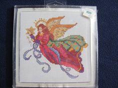 Elegant Christmas Angel  Counted Cross Stitch Kit by GrammieJennie
