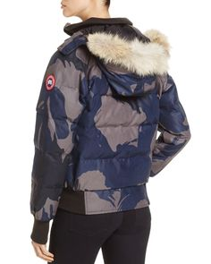 Canada Goose Savona Fur Trim Down Bomber Jacket - 100% Exclusive
