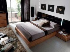dormitorio moderno nogal con negro