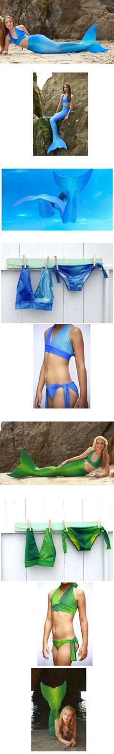 Quality Women's Swimmable Full Scale Seaside Fantastic Mermaid Tails With Bikini Sets Swimming Outfit For Sale-in Bikinis Set from Women's Clothing & Accessories on Aliexpress.com | Alibaba Group - L in Blue