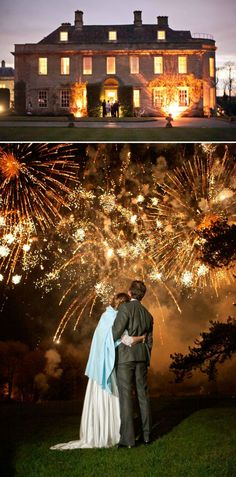 awesome fireworks to end a wedding