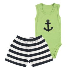 Ah hoy matey! This adorable two piece set is perfect for your little sailor during these warm days. Wear it at the beach, at the park, around the house, and more!