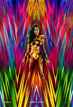 Wonder Woman won't becoming to Hall H at San Diego Comic-Con this year, but Wonder Woman 1984 director Patty Jenkins shared an update with fans: A fabulous new poster with a new costume for actress Gal Gadot. Chris Pine, Men In Black, Arte Dc Comics, Bd Comics, Batman Comics, Captain Marvel, Marvel Dc, Gal Gadot News, Movie Posters