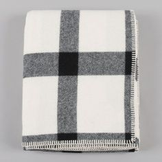 Eco-Wise Wool Throw in Ivory/ Black Plaid by Pendleton from The Goodhood Store. A soft warm winter gift. Home Bedroom, Bedroom Decor, Bedroom Ideas, Master Bedroom, Bedrooms, Up House, Home And Living, Living Room, Bedroom Colors