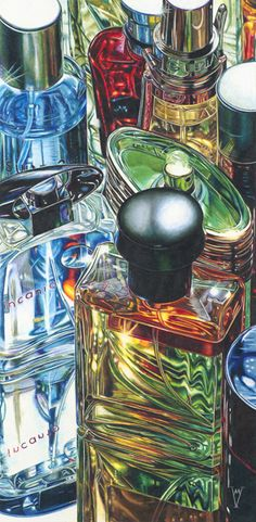 "Colored pencil is a medium you don't often see. I took a course from Gary Greene years ago and was amazed at what you can do with this medium! ""Vanity"" by Martin Vela, 2007, colored  pencil on museum board, 18 x 9."