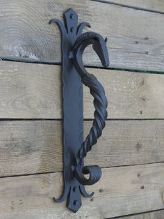 Hand forged door pull Horse's head medium by SiberianWroughtIron