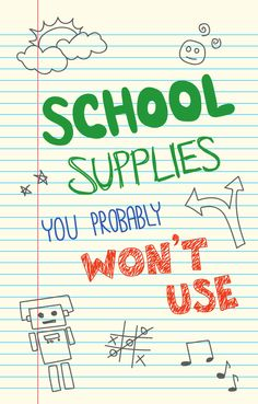 With all the things you will need for school, it's good to know what you shouldn't waste your time or money on getting.