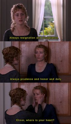 """seeuinmydreams: """"Sense and Sensibility"""" movie scene Where Is Your Heart, Darcy And Elizabeth, Jane Austen Movies, Emma Thompson, Period Dramas, Period Movies, Movie Lines, Jane Eyre, Classic Literature"""