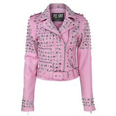 Leather Skin Shop offers the wide verity of Pink Leather Jacket for Women. We offer Genuine Pink Studded Leather Jacket at the best possible price. Leather Skin, Pink Leather, Real Leather, Cowhide Leather, Classic Leather, Vintage Leather, Neo Grunge, Studded Leather Jacket, Purple Jacket