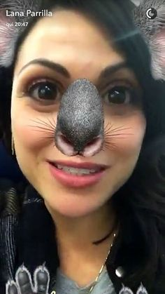 Awesome Lana being an adorable mouse #NYC #LanasSnapChat Thursday 5-19-16