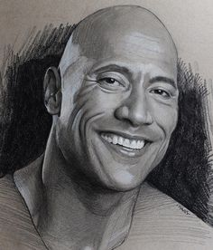 Charcoal and Graphite Celebrity Portraits The Rock - Dwayne Johnson. Pastel Charcoal and Graphite Celebrity Portraits. By Justin Maas.The Rock - Dwayne Johnson. Pastel Charcoal and Graphite Celebrity Portraits. By Justin Maas. Realistic Pencil Drawings, Pencil Art Drawings, Art Drawings Sketches, Tattoo Sketches, Tattoo Drawings, Portrait Sketches, Pencil Portrait, Portrait Art, The Rock Dwayne Johnson