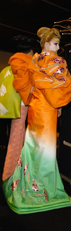 """John Galliano for Christian Dior SS 2007 Haute Couture """"Madame Butterfly"""" backstage"""