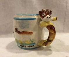 Vintage Whistle For More Milk Childrens Cup by VintagePrairieHome