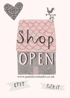 www.paintlovestudio.co.uk Shop Open on Etsy and Folksy selling beautiful greetings cards by Linda Tordoff of Paintlove Studio.