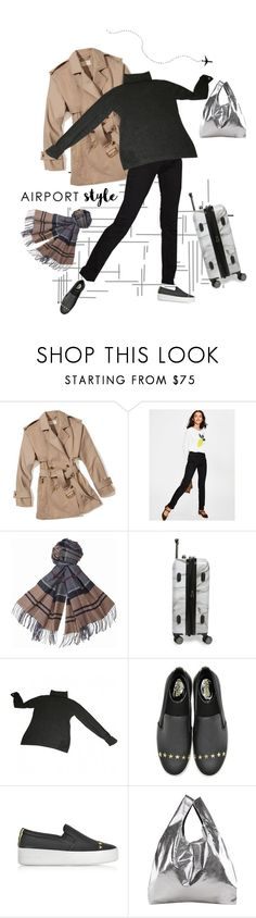 """now boarding"" by collagette ❤ liked on Polyvore featuring MICHAEL Michael Kors, Boden, Barbour, CalPak, Nina Ricci, Michael Kors, MM6 Maison Margiela and airportstyle"