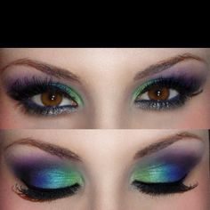 Peacock eyes! Perfect!!